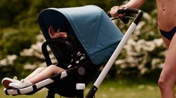"""Baby Stroller and Bikini Equals Epic """"Oh My"""" Moment. Absurd? Funny? Inspiring? You Be The Judge."""