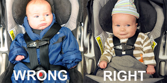 Car Seat And Puffy Winter Jacket IS A Dangerous Combination | Oh My ...