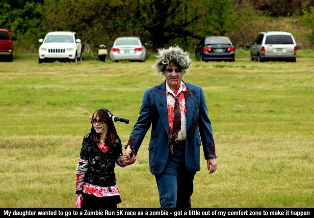 zombie dad and girl