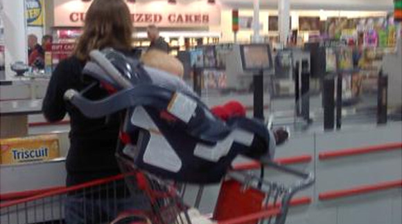 car-seat-on-shopping-cart