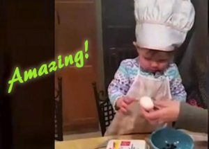 "You'll Be Stunned With What This ""Toddler Chef"" Can Do With An Egg"