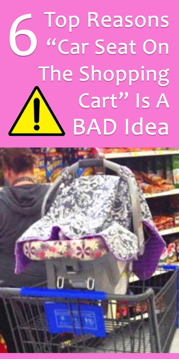 car seat on shopping cart
