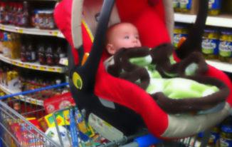 car-seat-on-shopping-cart